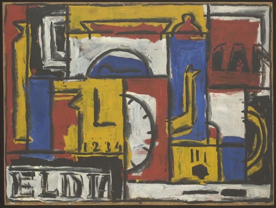 """Constructivo """"El Dia"""" en cinco colores by Julio Alpuy"""