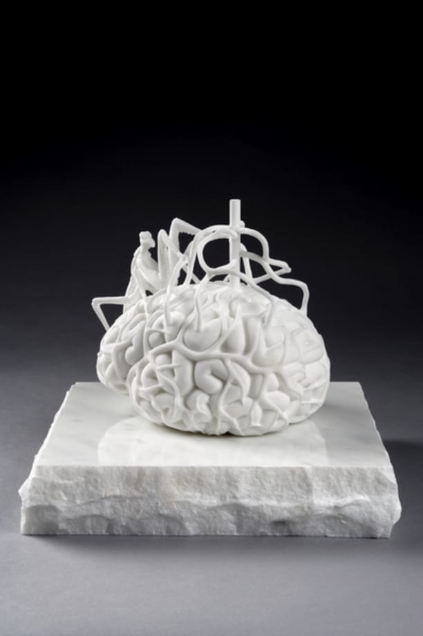 The scientist's brain measuring his own mirror neurons by Jan Fabre