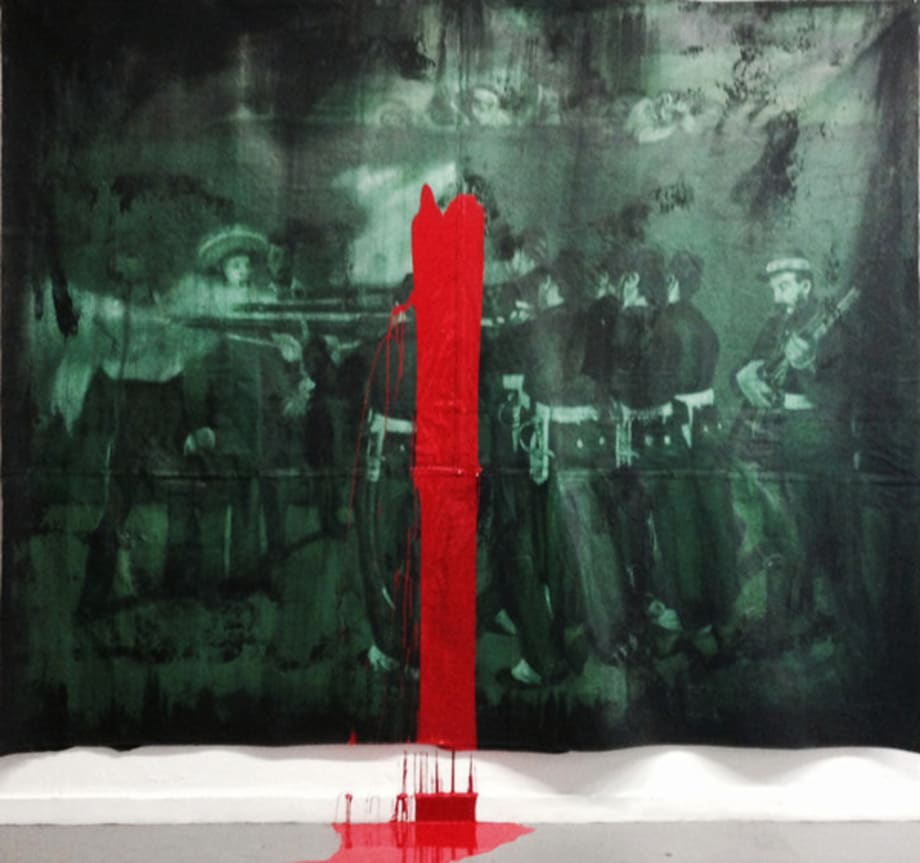 Farsa - Manet (L'Execution de Maximilien) by Dora Longo Bahia