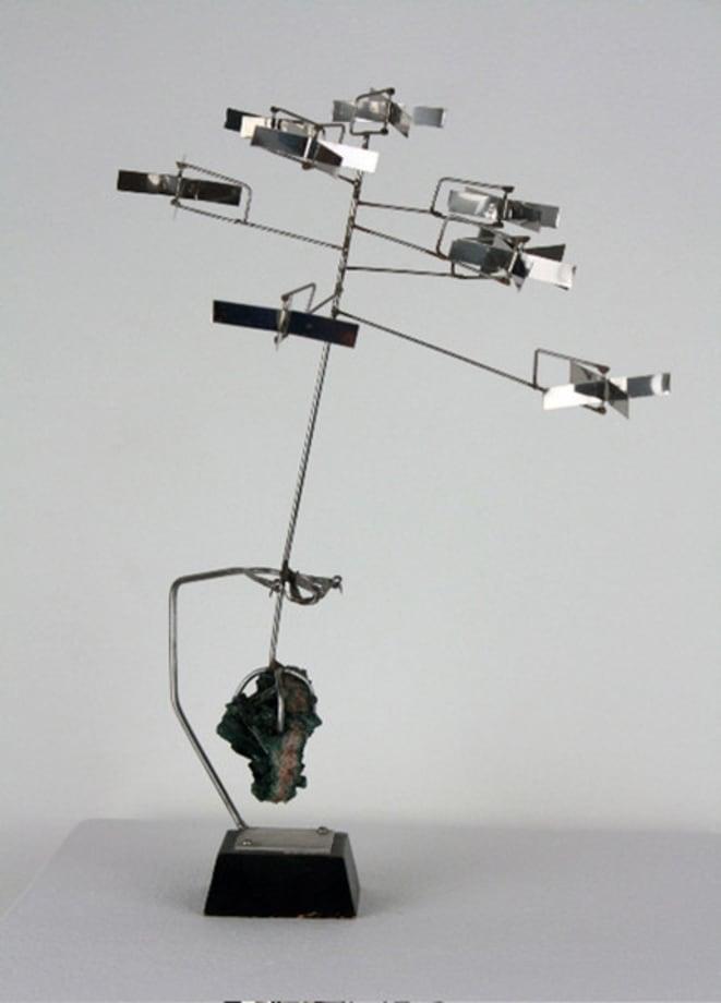 Nine Rotors with Tourmaline by George Rickey