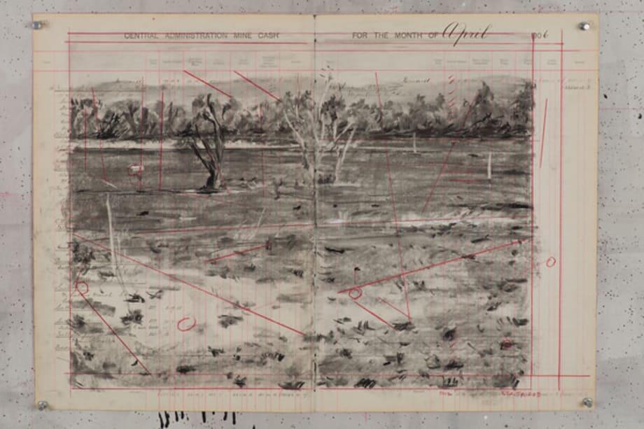 5km from Carletonville (3) by William Kentridge