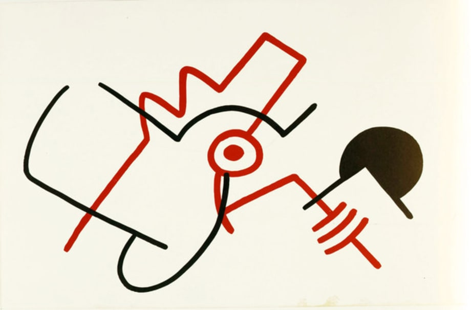Abstraction of Red Dog for Landois by Keith Haring