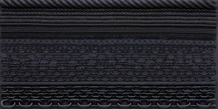 Orgon Door III (#1, black frame) by Isabelle Cornaro