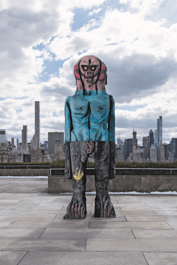 We Come In Peace by Huma Bhabha