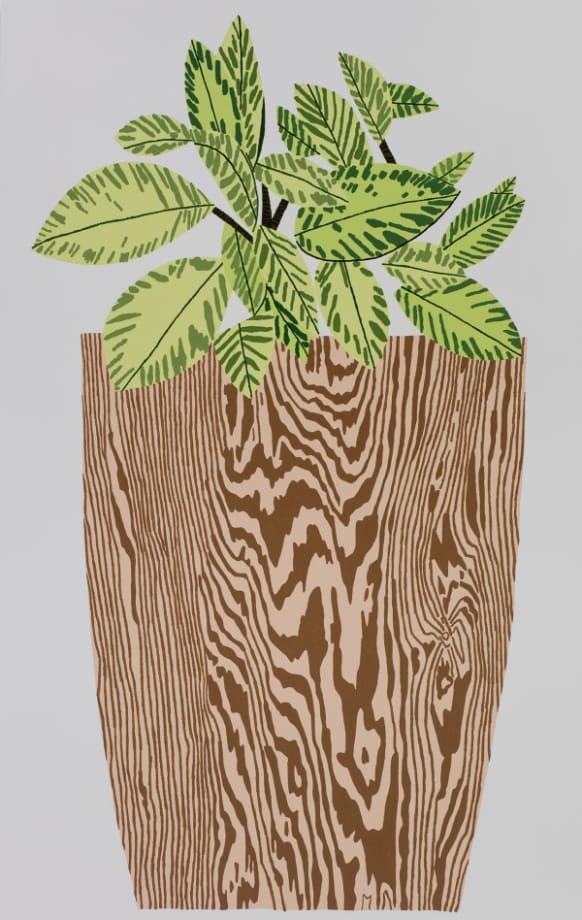 Wood Grain Pot 3 by Jonas Wood