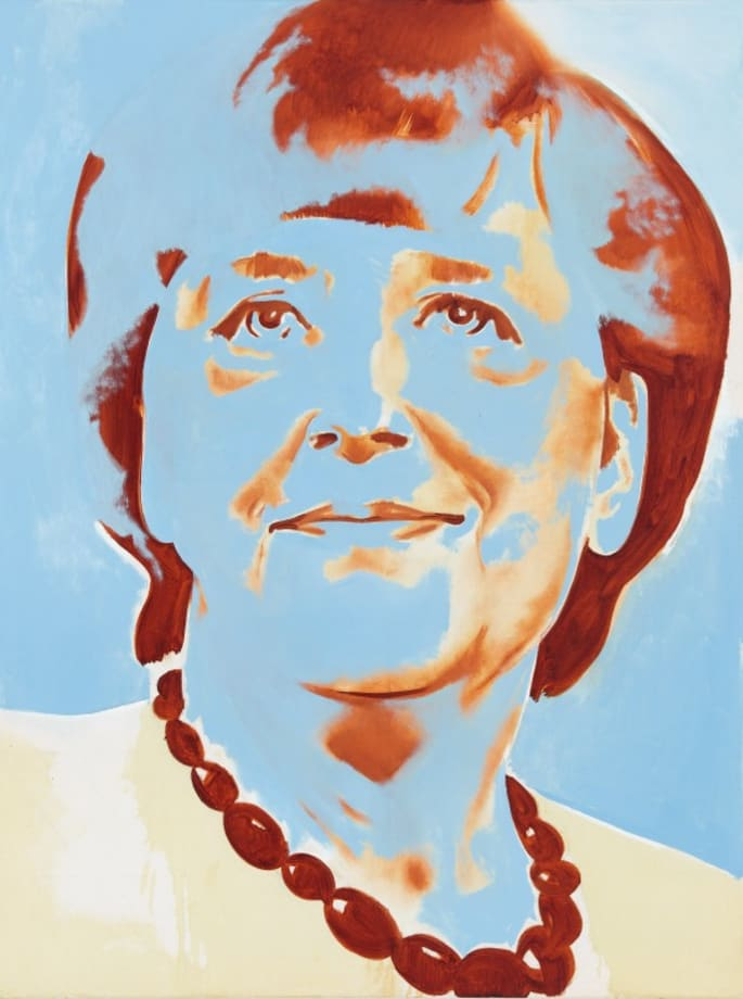 Angela Merkel blue by Wilhelm Sasnal