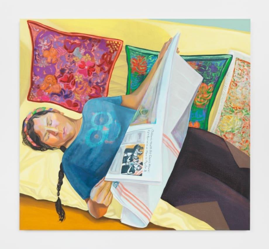 Veronica Reading The New York Times by Aliza Nisenbaum