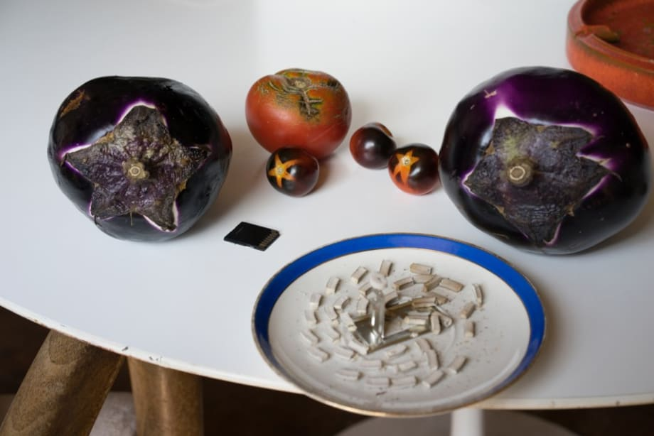 still life (photographic vegetables) by Wolfgang Tillmans