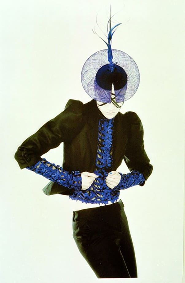 Homage to Yves Klein by Karl Lagerfeld