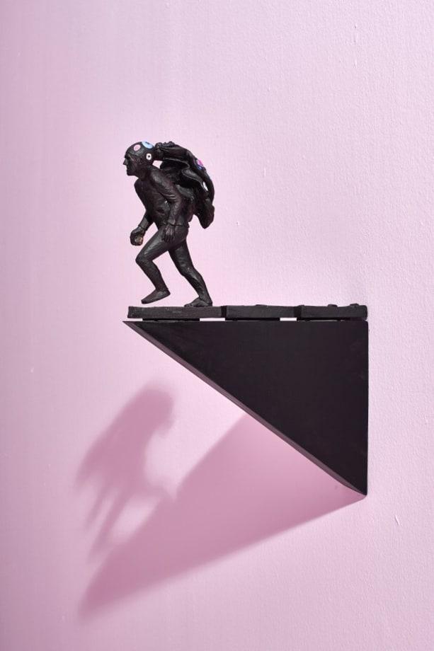 Man Flees the Spectacle by Clive van den Berg