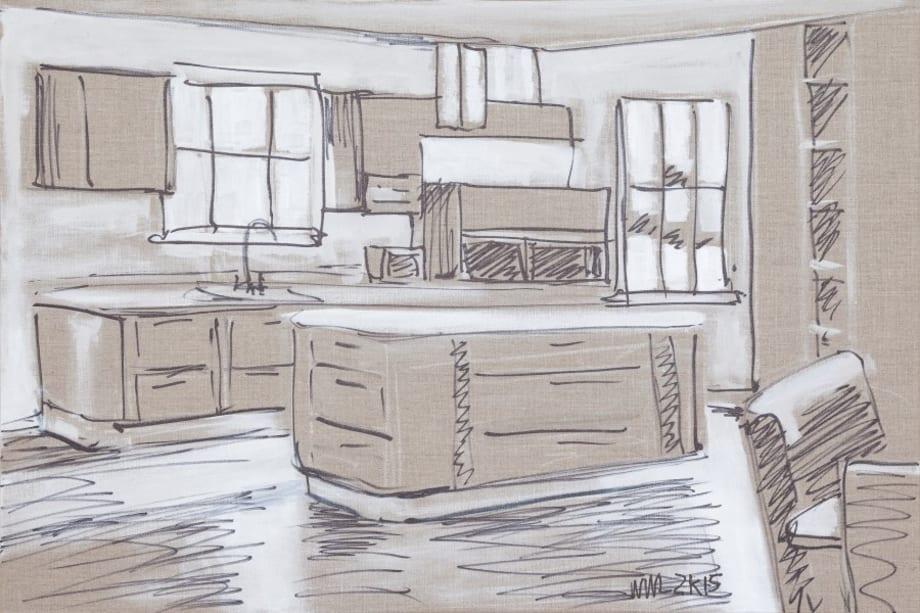 Kitchen Island #2 by William Leavitt