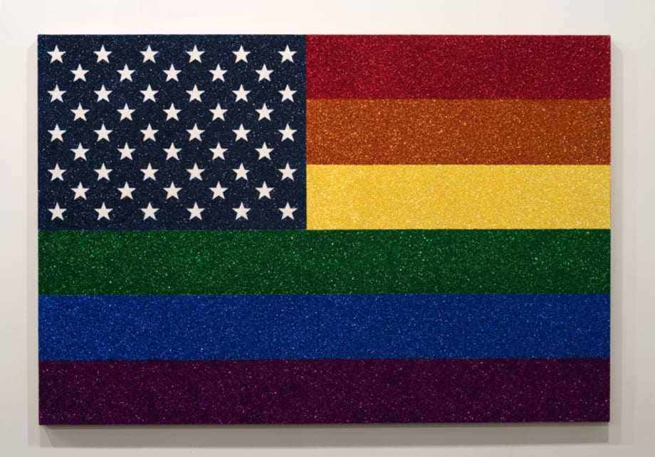 Rainbow American Flag for Jasper in the Style of the Artist's Boyfriend by Jonathan Horowitz