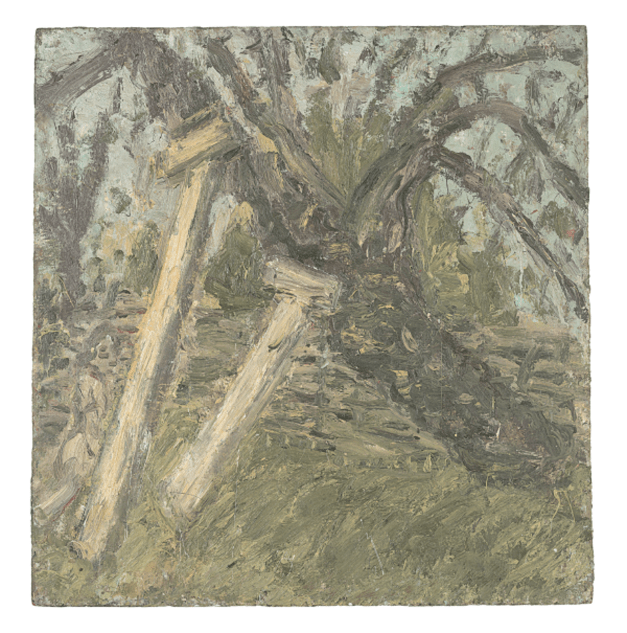 Cherry Tree and Young Girl by Leon Kossoff