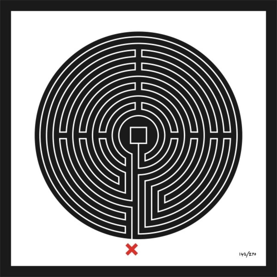 Labyrinth #142 Bank by Mark Wallinger