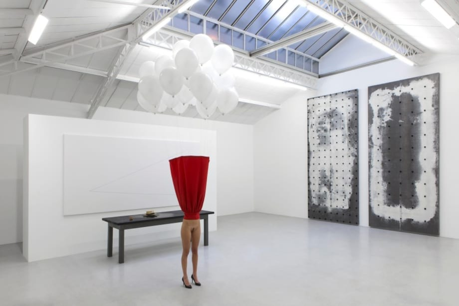 """View of the exhibition """"Ensemble"""" by Pier Paolo Calzolari"""