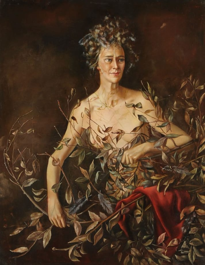 Portrait of Mrs. Hasellter by Leonor Fini