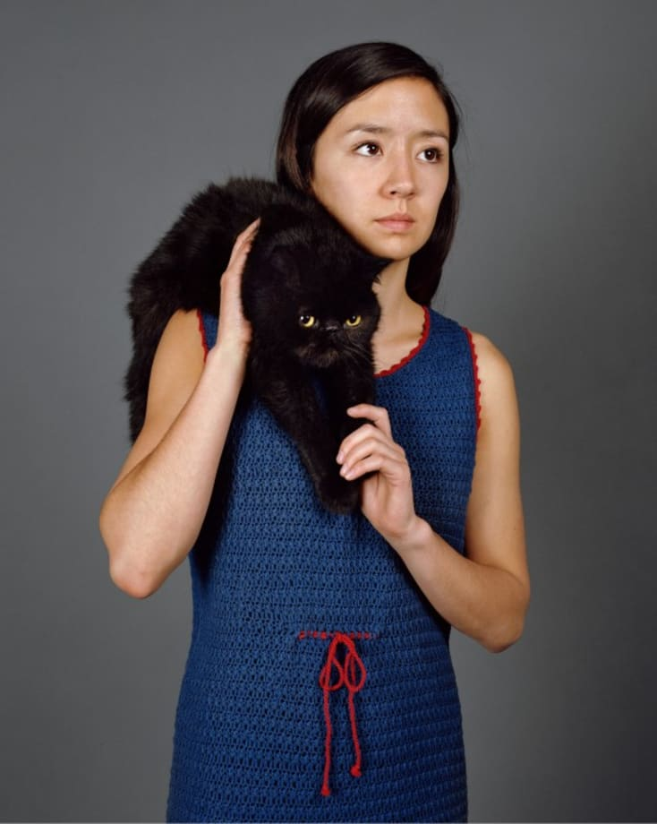 cat-on-the-shoulder, for Jean-Pierre Beauviala by Sharon Lockhart