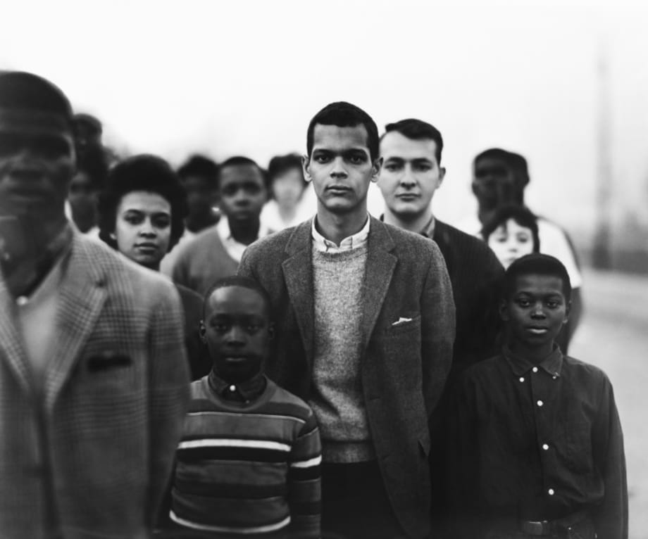 Student Non-violent Coordinating Committee headed by Julian Bond, Atlanta, Georgia, March 23 by Richard Avedon