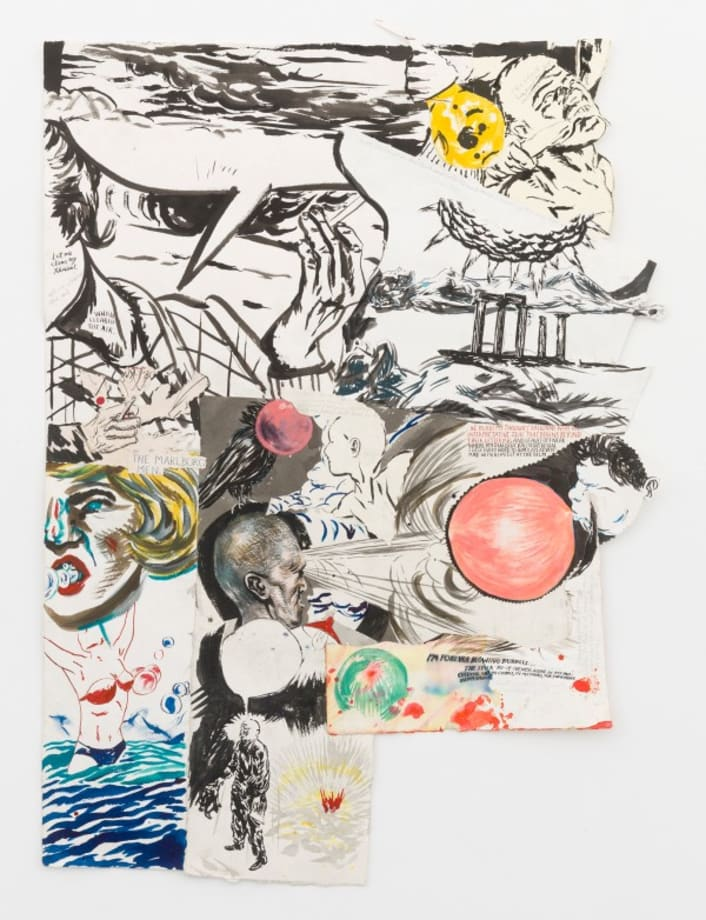 No Title (Let me clear) by Raymond Pettibon