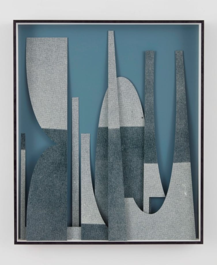 Painted steel, screen and shade by Erin Shirreff