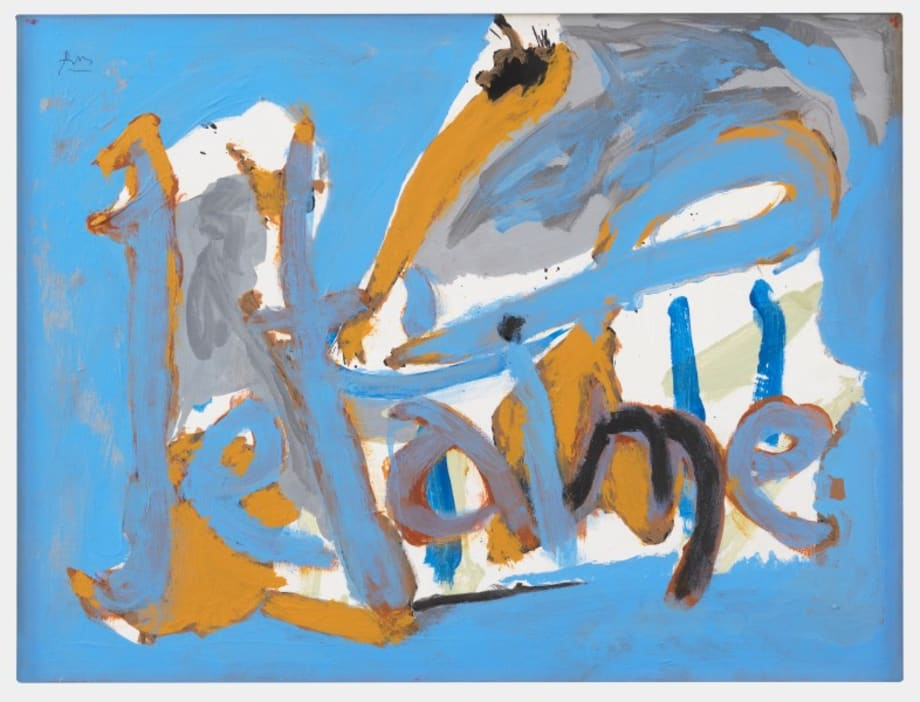 Untitled (Je t'aime) by Robert Motherwell