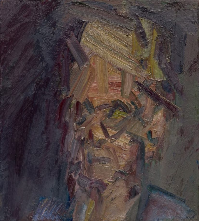 Head of William Feaver by Frank Auerbach