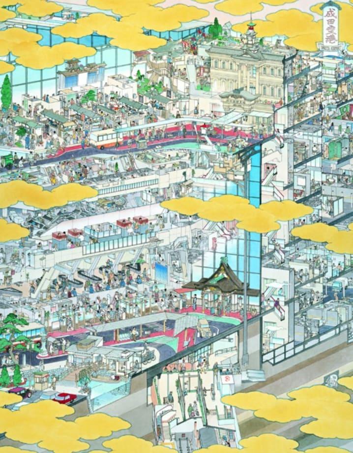 Narita International Airport: View of Flourishing New South Wing by Akira Yamaguchi