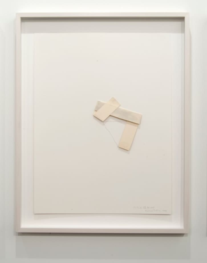 Title IV for wall by Richard Tuttle