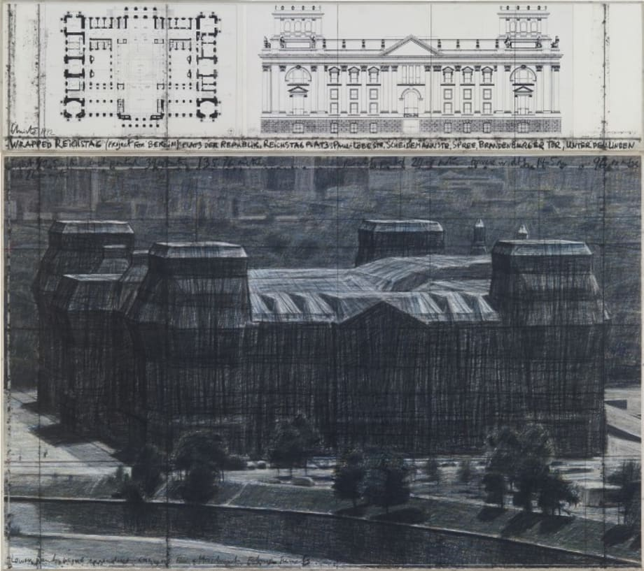 Wrapped Reichstag (Project for Berlin) by Christo & Jeanne-Claude