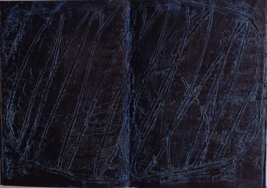 untitled (darkblue) by László Lakner
