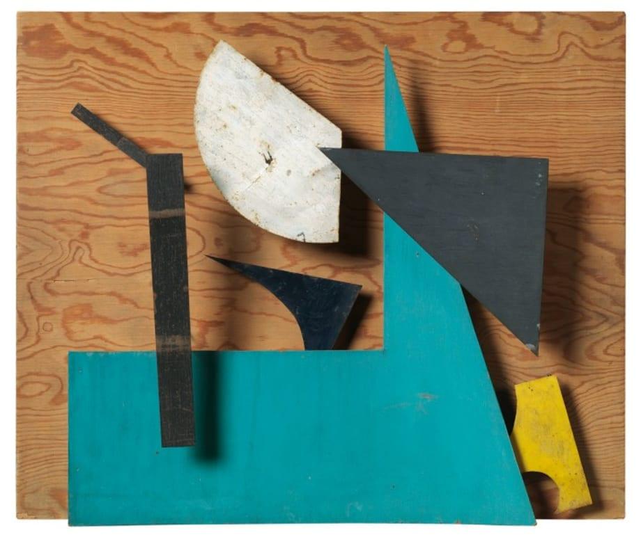 Sprit - Bleu, ocre et vert by Jean Tinguely
