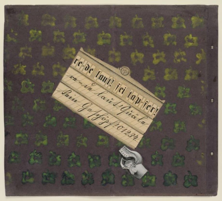 re = de laut ! sei tap = fer ! (W5 Manifesto, jacket maquette) by Max Ernst