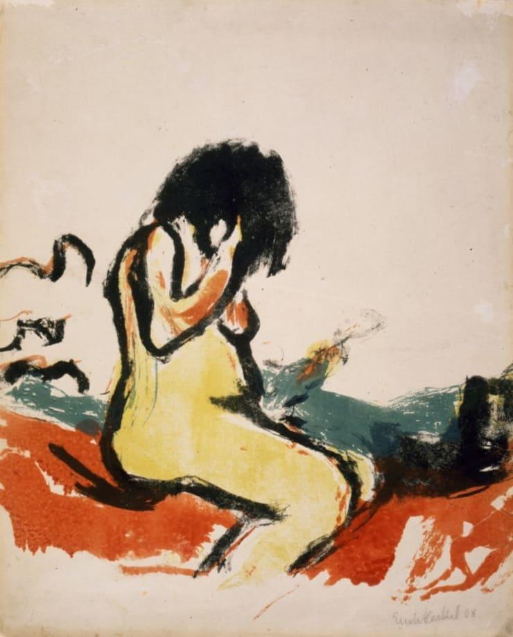 Sitzender Frauenakt (Seated Female Nude) by Erich Heckel