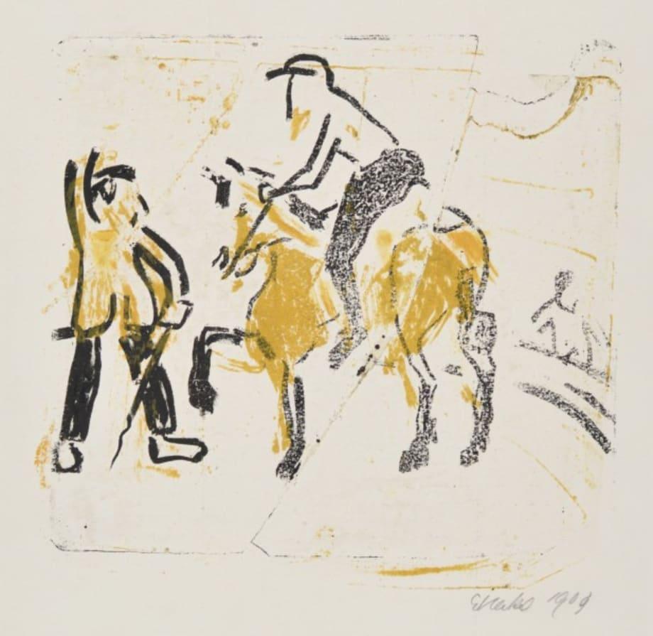 Dressurakt (Riding Act) by Erich Heckel