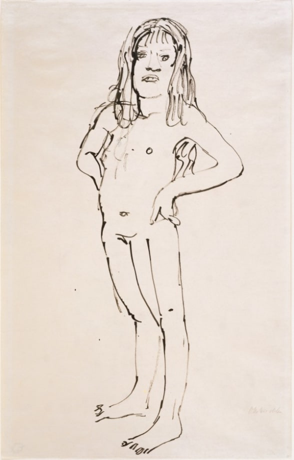Stehender Mädchenakt/Standing Nude Girl by Oskar Kokoschka