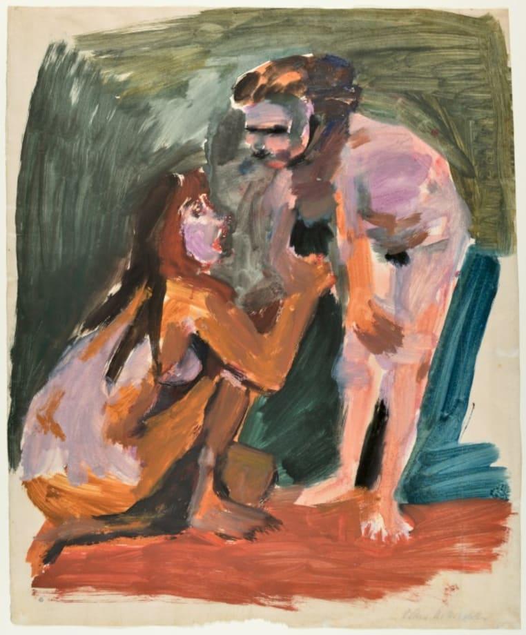 Zwei Mädchen (Two Girls) by Oskar Kokoschka