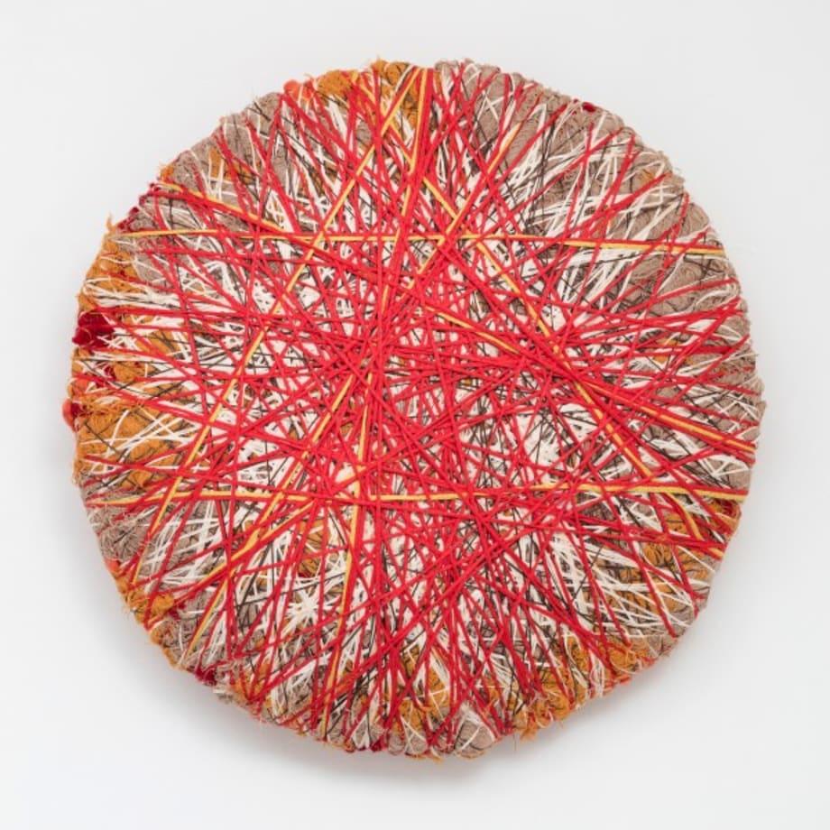Soft Stone Fiber Sculpture orange by Sheila Hicks
