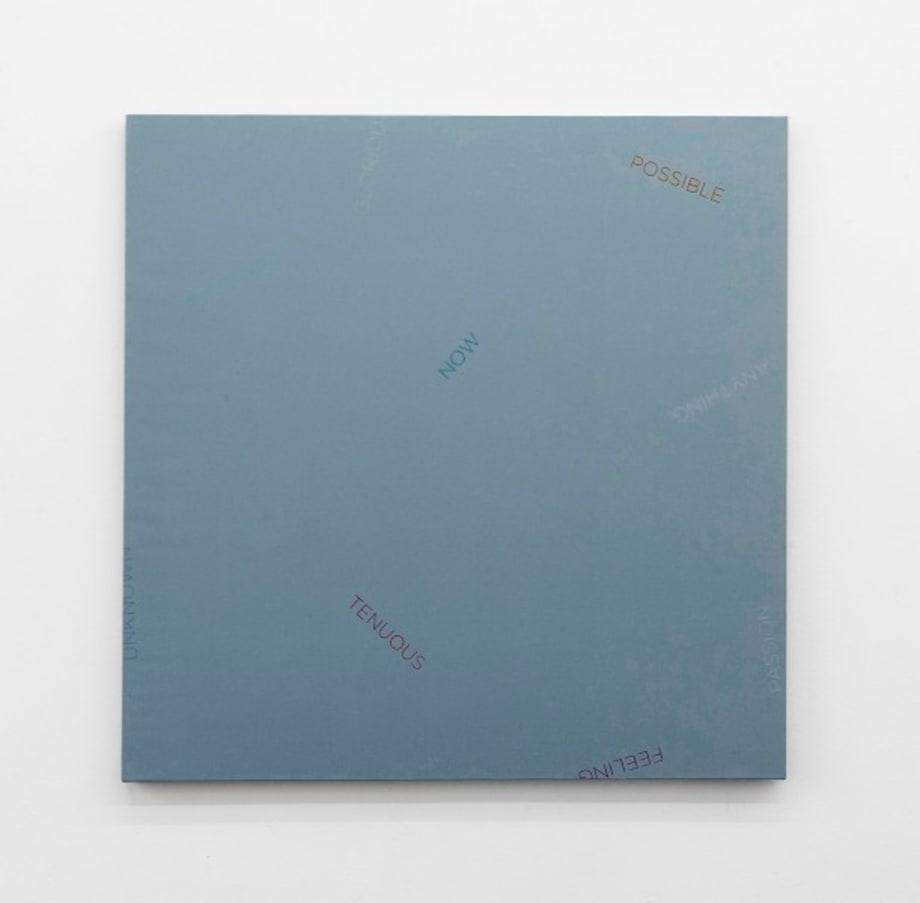 Untitled (light blue) by Robert Barry