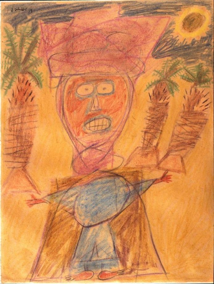 The Arab in Orange by Jean Dubuffet