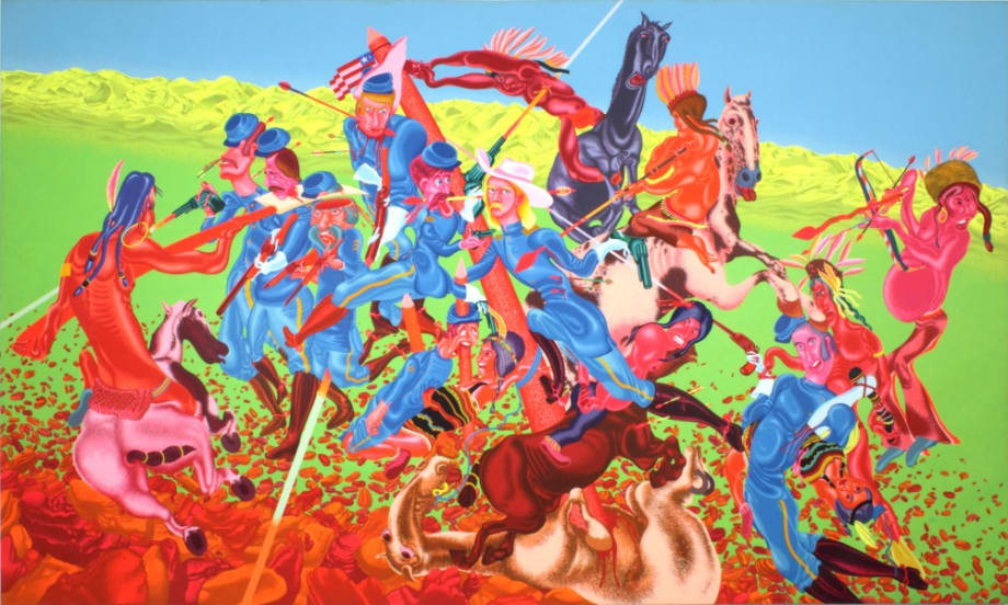 Custer's Last Stand #1 by Peter Saul
