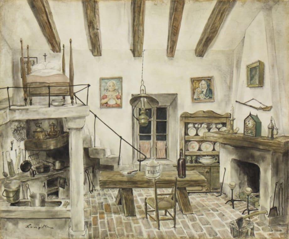 Interior (Studio) by Leonard Tsuguharu Foujita