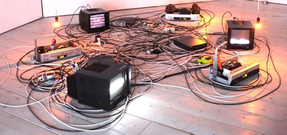 Prepared Video Deck no.1 (Magnet Video 1) by Masayuki Kawai
