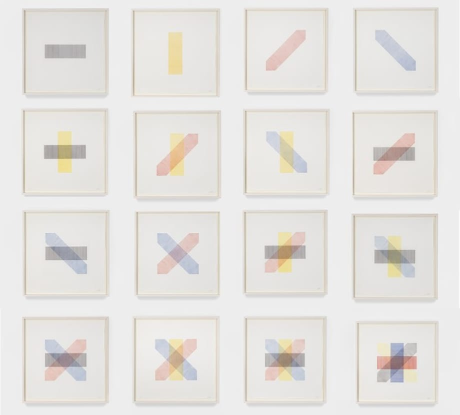 Bands of Color in Four Directions and All Combinations by Sol LeWitt