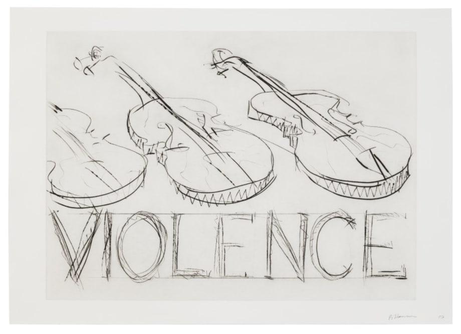 Violins/Violence by Bruce Nauman