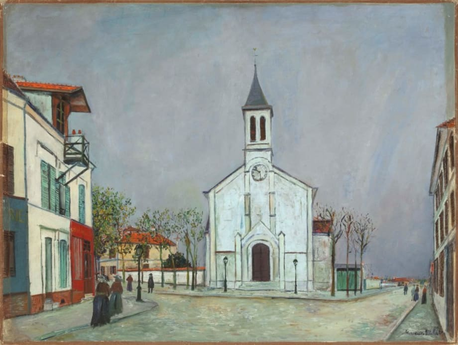 Eglise de Villetaneuse (Seine-Saint- Denis) by Maurice Utrillo