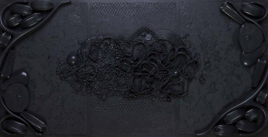 Orgon Door II (#1, black) by Isabelle Cornaro