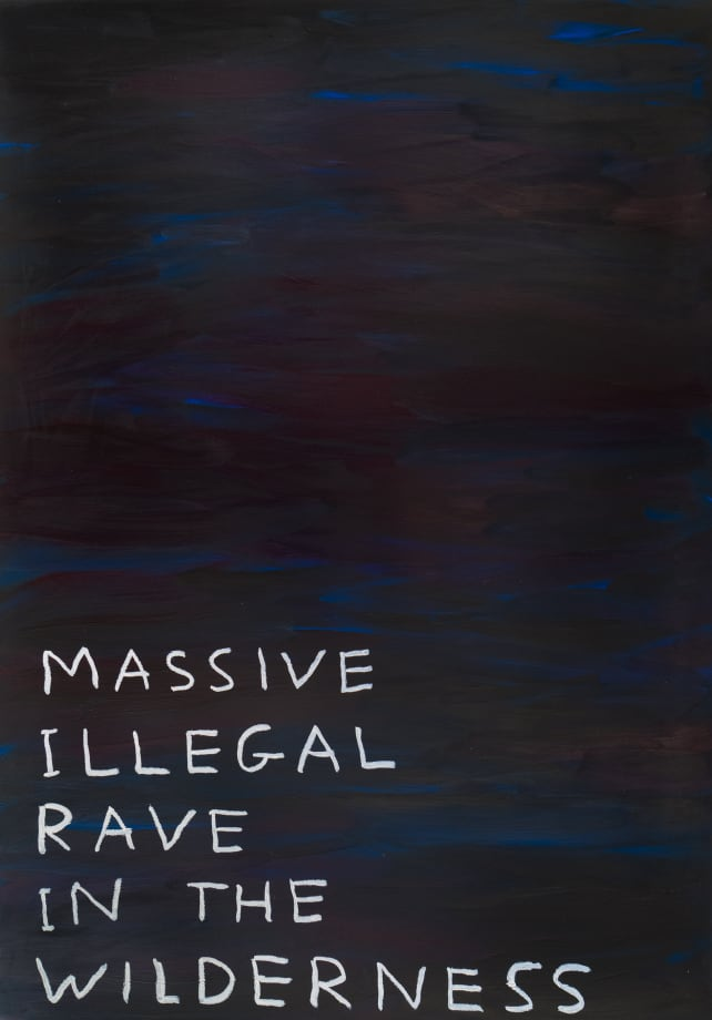 Untitled (Massive Illegal Rave) by David Shrigley