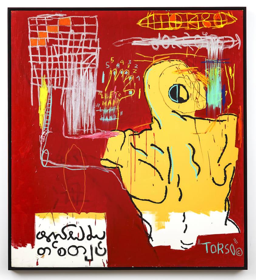 Krong Thip (Torso) by Jean-Michel Basquiat